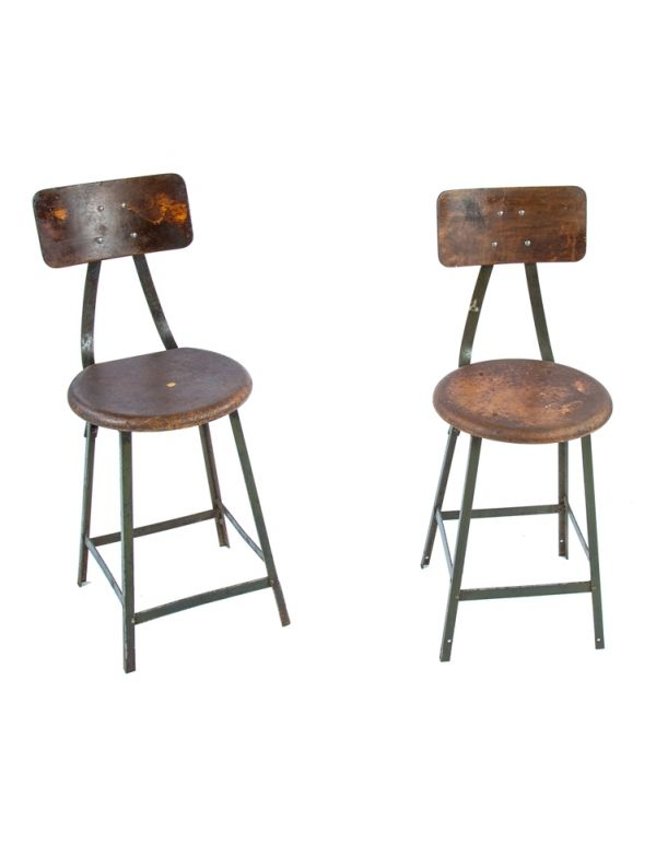 Awesome Vintage Industrial Stools Furniture Products Lamtechconsult Wood Chair Design Ideas Lamtechconsultcom