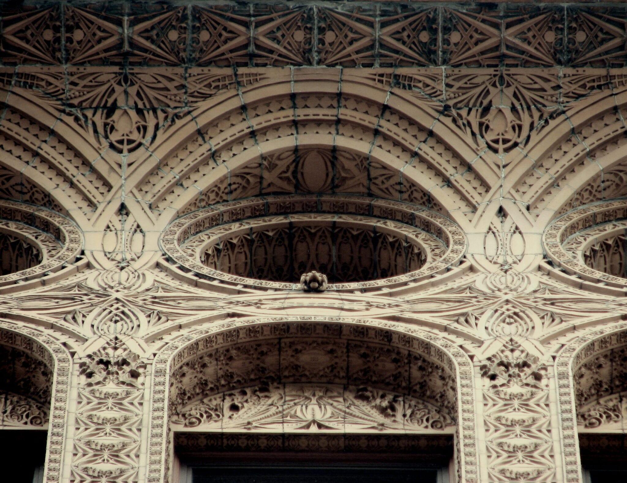 Louis H Sullivan Designed Copper Plated Ornamental Cast