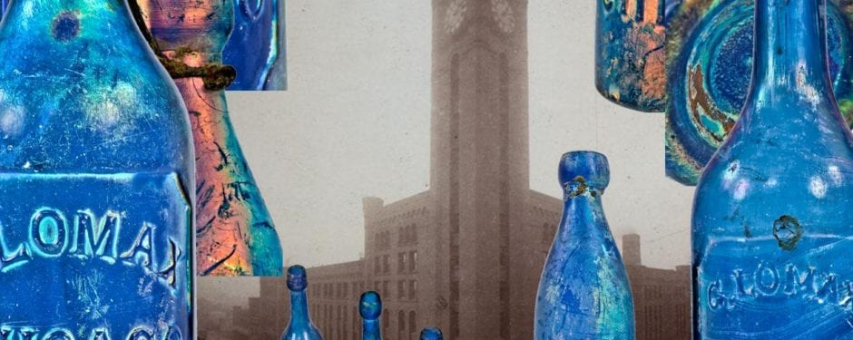 mid-19th century mineral water bottles unearthed from site where grand central station once stood