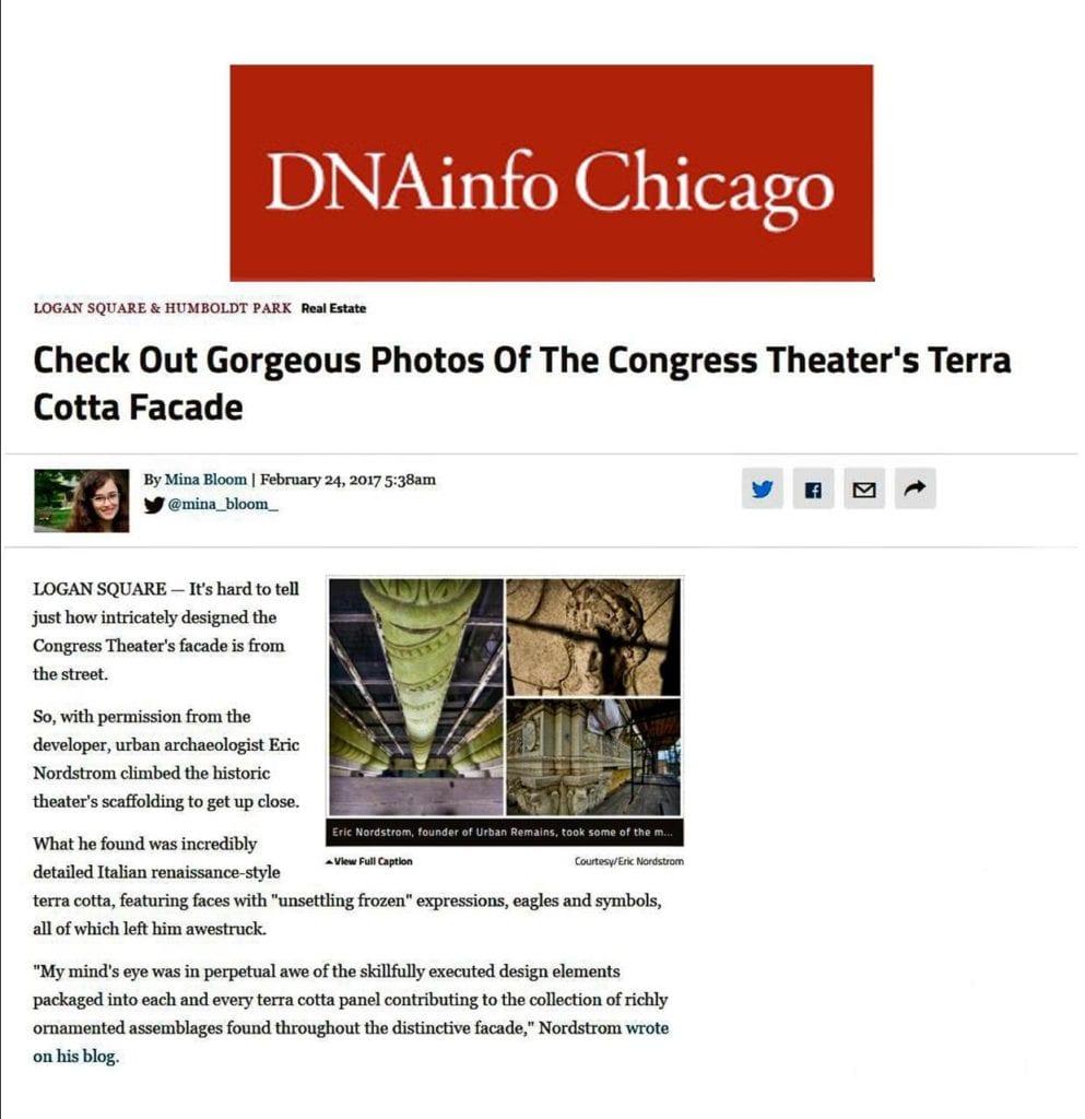 eric j. nordstrom photographs congress theater's facade