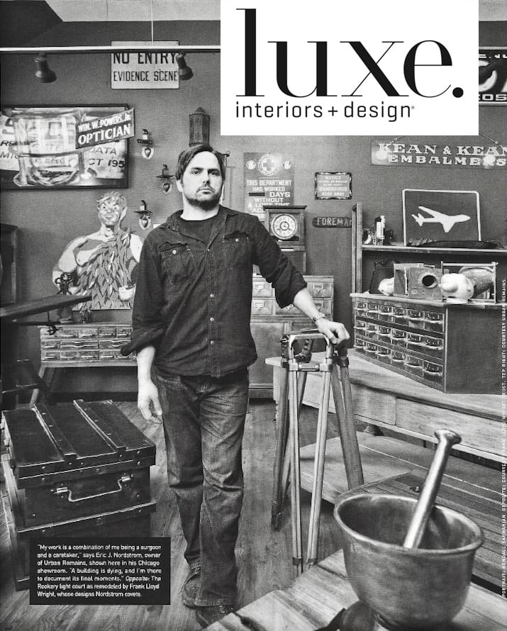 "Eric J. Nordstrom featured in Luxe Interiors & Design magazine's Summer 2014 ""Style Makers"""