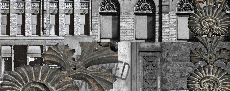 artifacts from adler and sullivan's levi rosenfeld building (1881)