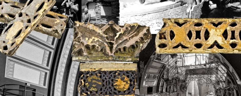 remnants of the 1891 sullivan & adler-designed garrick theater obtained for bldg. 51 collection