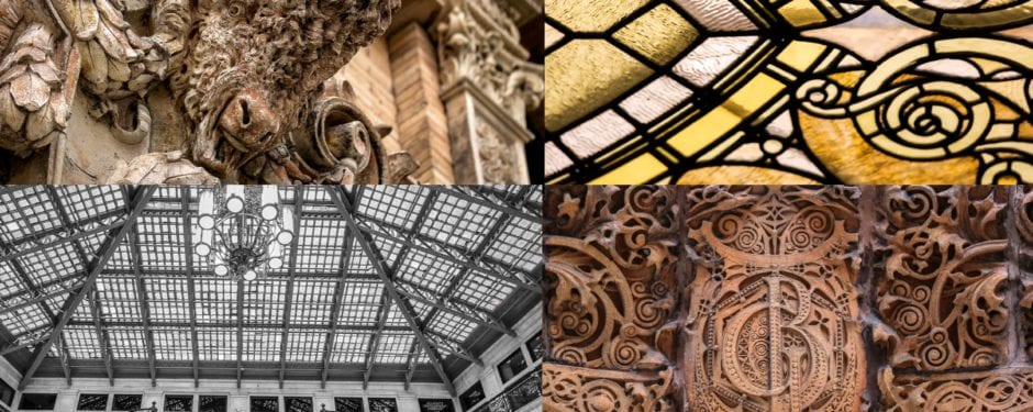 photographing historic building ornament in buffalo during weekend visit