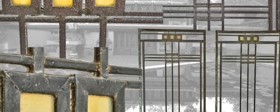 frank lloyd wright-designed avery coonley residential art glass windows added to bldg. 51 museum collection