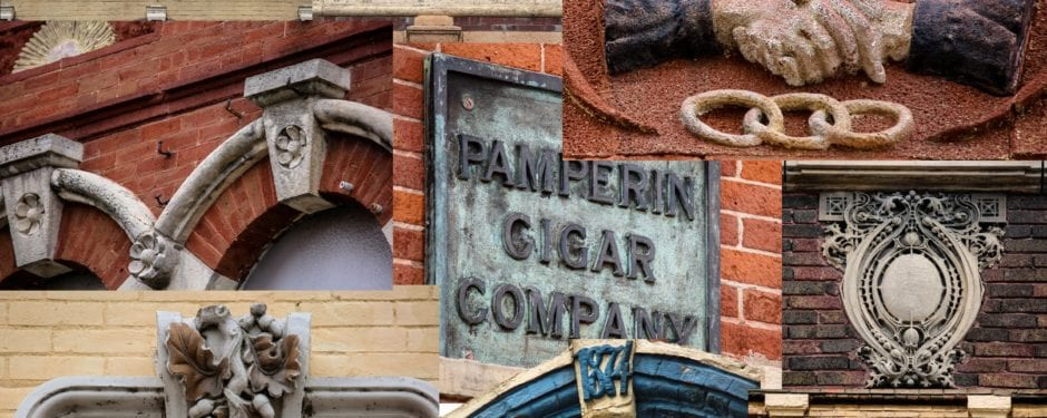 a photographic study of historic commercial building ornament in la crosse, wisc.