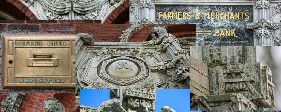 louis h. sullivan's farmers and merchants union bank (1919) in photographs
