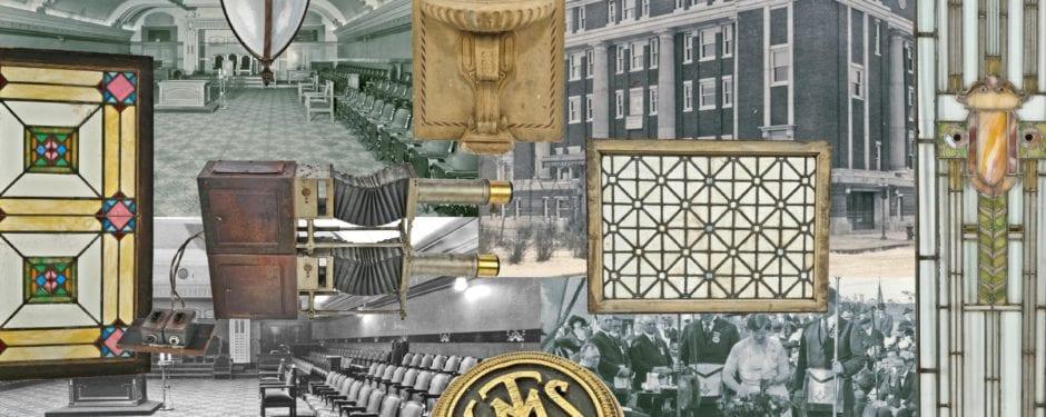 remnants lost and found in logan square masonic temple's attic