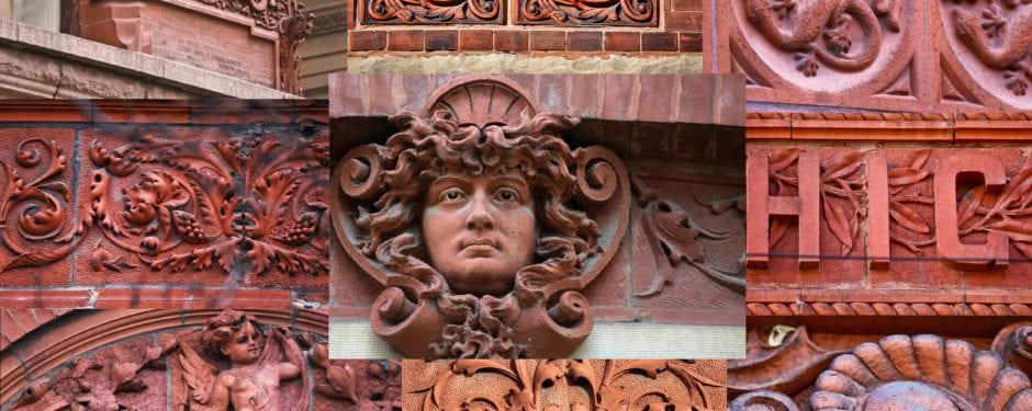 a photographic survey of early 1880's terra cotta ornament found on extant chicago buildings
