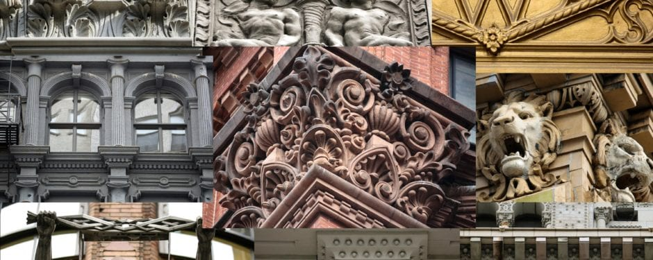 an afternoon photographing building ornament in new york city