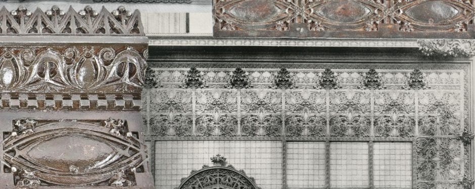 louis h. sullivan-designed gage building ornamental iron storefront scrapped during the 1950's