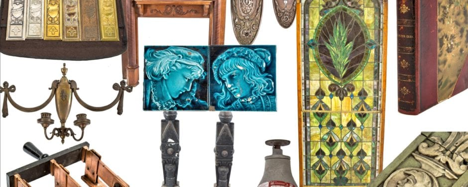 latest additions to website catalog: architectural terra cotta, millwork, industrial furniture, chicago ephemera, and much more