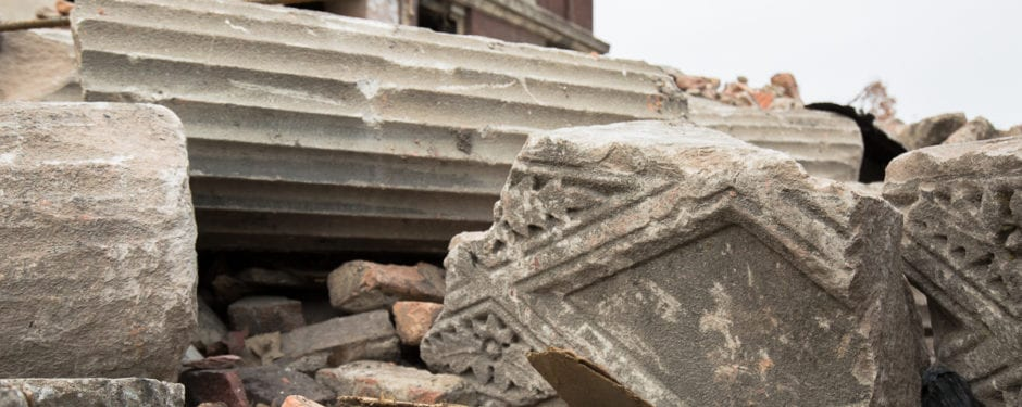 documentation of south masonic temple building (1921) demolition continued, part 2