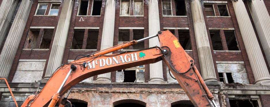 documentation of south masonic temple building (1921) demolition continued, part 3