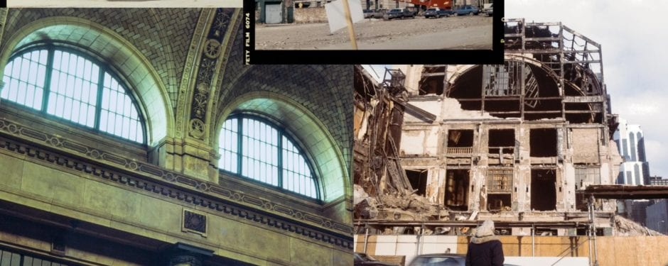 1984 demolition of frost and granger's chicago and northwestern railroad terminal