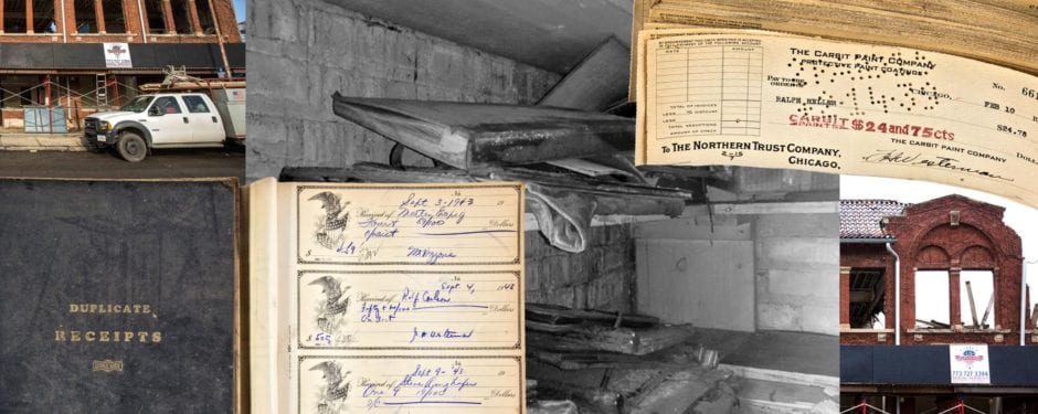 contents from humboldt garage & auto service building walk-in vault saved shortly before its demolition