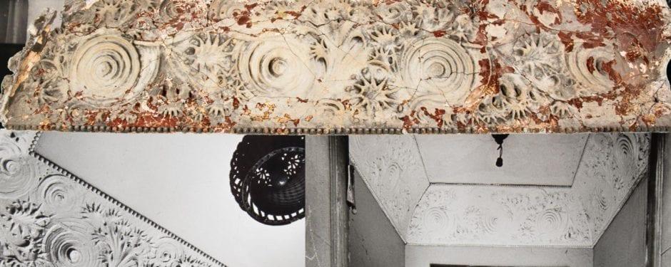 cast plaster cove molding from louis sullivan-designed albert sullivan residence joins bldg. 51 museum collection
