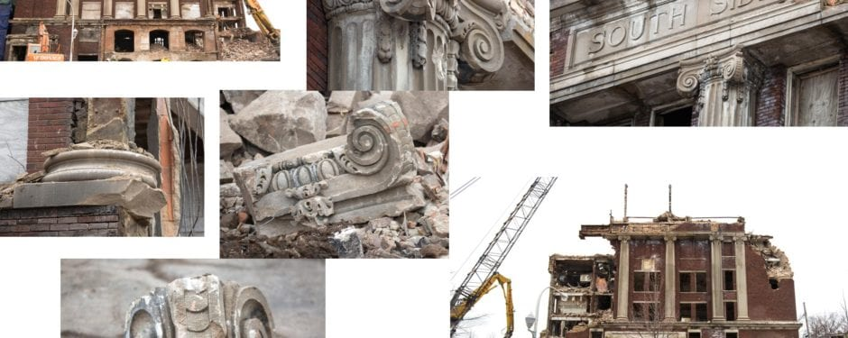 DOCUMENTATION OF SOUTH MASONIC TEMPLE BUILDING (1921) DEMOLITION CONTINUED, PART 5