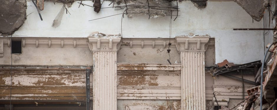 demolition nearing its end on clarence hatzfeld's south masonic temple building