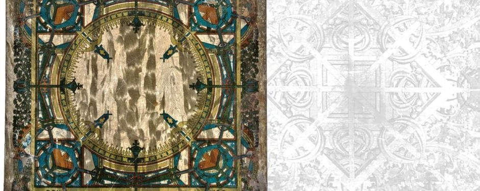newly discovered louis h. sullivan polychromed lightographed tin stoveboard joins bldg. 51 museum collection