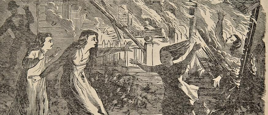thieves were hung and brained - a gruesome account of the great chicago fire of 1871