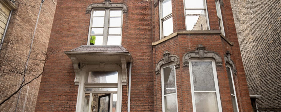 post-fire chicago italianate on orchard street reduced to rubble