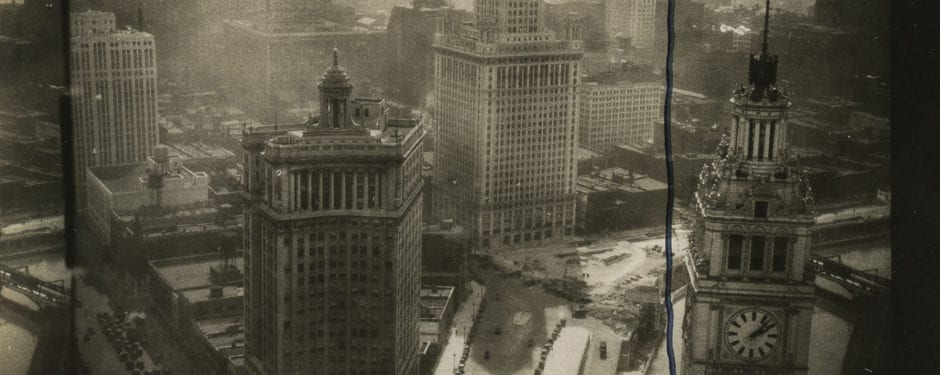 looking at chicago from the tribune building in 1933