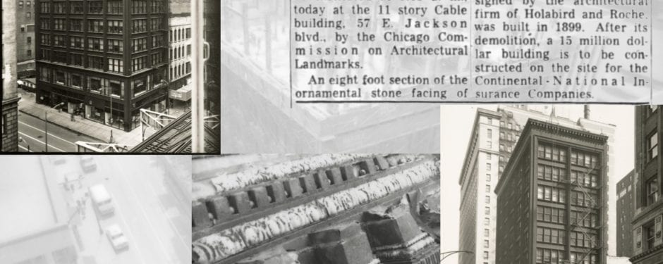 richard nickel images documenting the death of holabird and roche's 1899 cable building now digitized