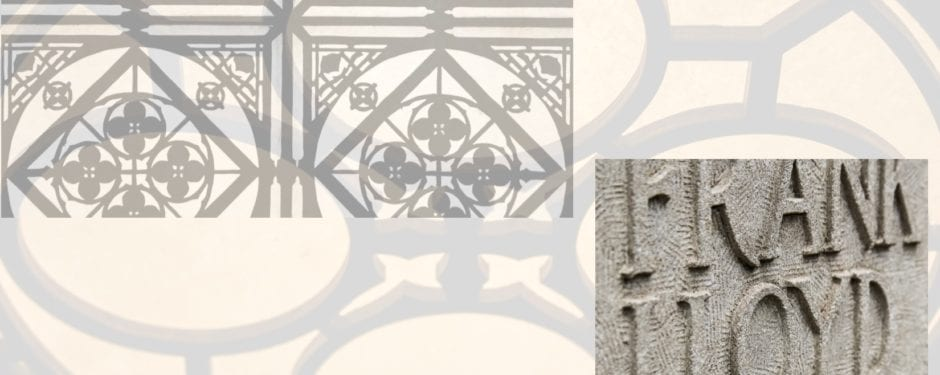images of ornament at frank lloyd wright's home and studio