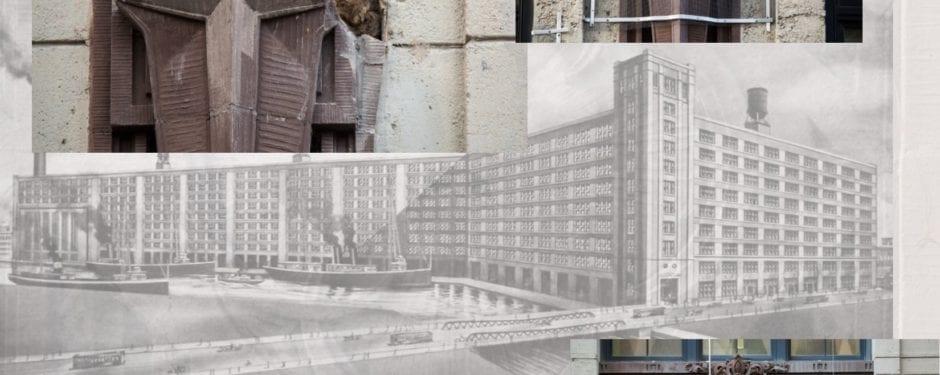 schmidt and garden's 1907 montgomery ward's mail complex undergoing facade restoration