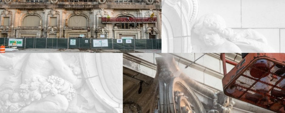 latest images of chicago's historic cook county hospital facade restoration
