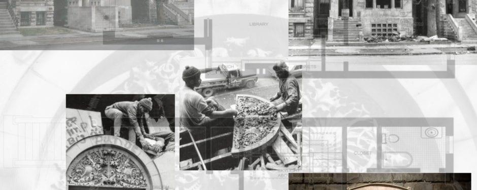 design elements from adler & sullivan's transportation building preserved through albert sullivan house demolition