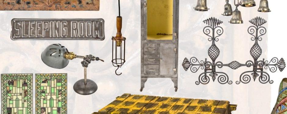 newly added artifacts: elmslie terra cotta, medical cabinets, richardsonian andirons, and howard van doren shaw windows
