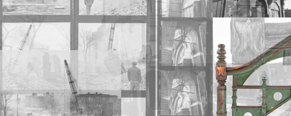 documenting the destruction of dankmar adler's house in 1961