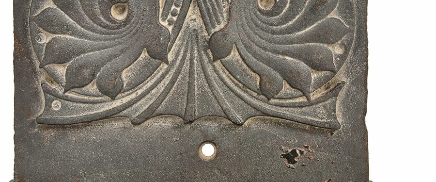 ornamental cast iron rookery building pilaster panel joins bld. 51 musuem collection