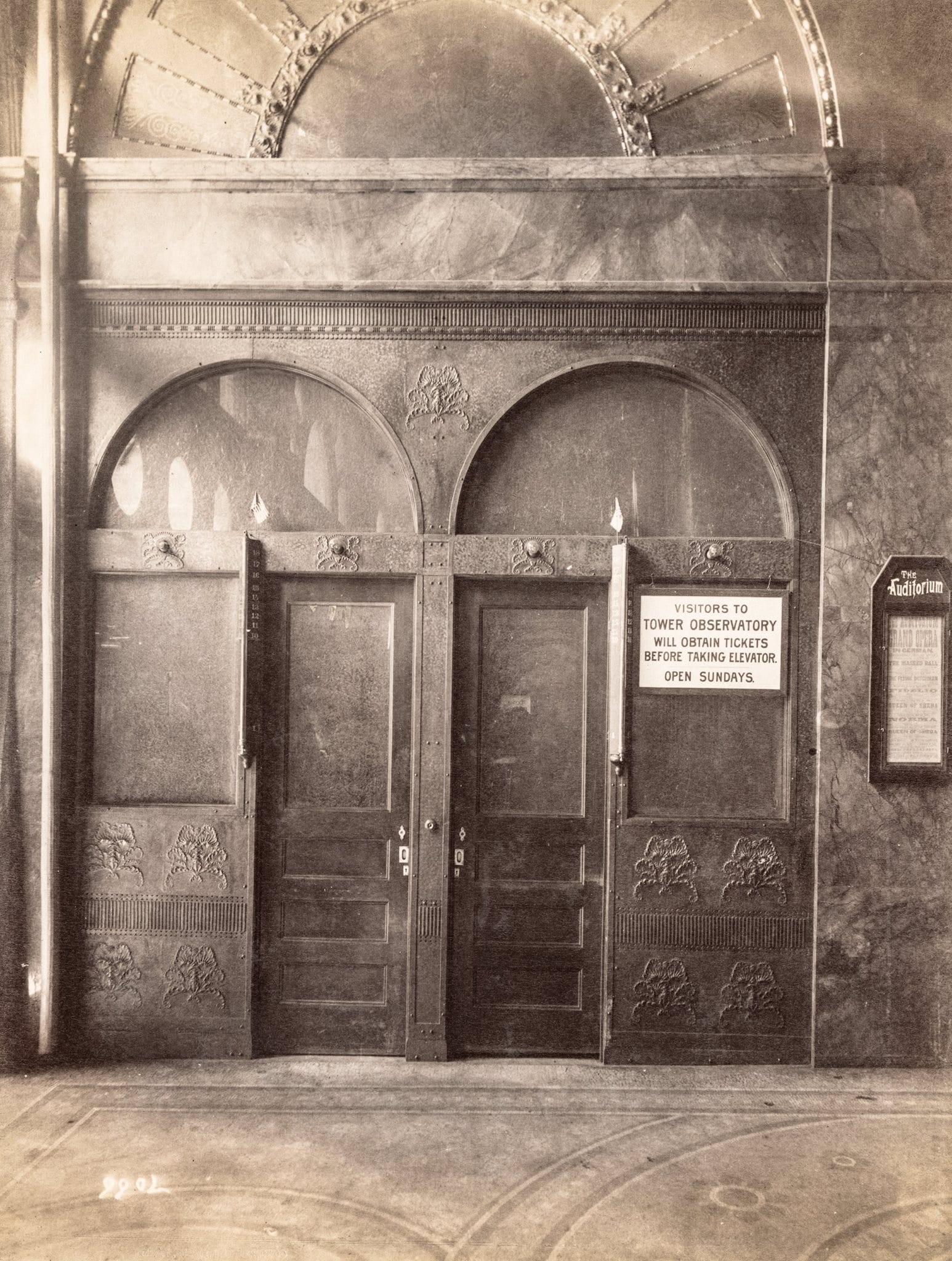 A Large Set Of Albumen Prints Were Made By Photographer James W. Taylor  Shortly After Adler And Sullivanu0027s Auditorium Building (1889) Was  Completed, ...