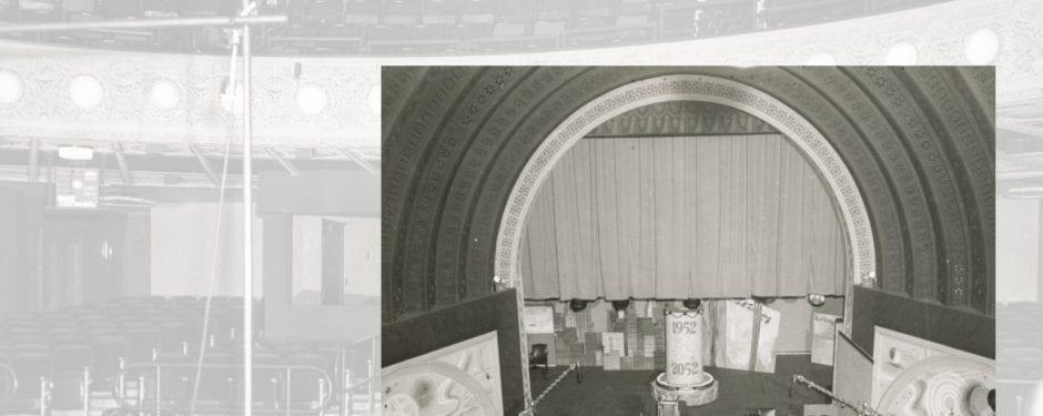 seldom seen images of adler and sullivan's garrick theater auditorium as 1950's television studio