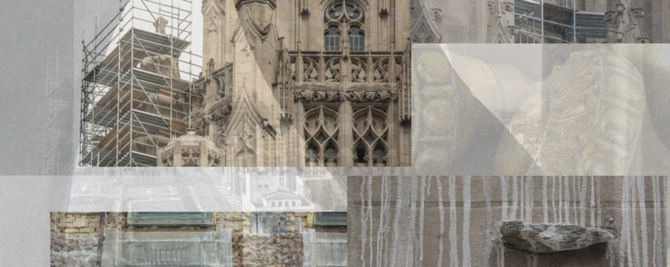 continued documentation of howells and hood's chicago tribune tower exterior restoration