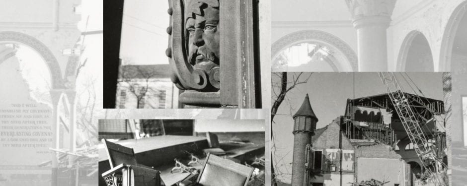 seldom seen richard nickel photos documenting the destruction of burnham and root's church of the covenant