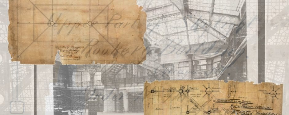 19th century architectural drawings of burnham and root's rookery's skylight acquired by bld. 51 museum archive
