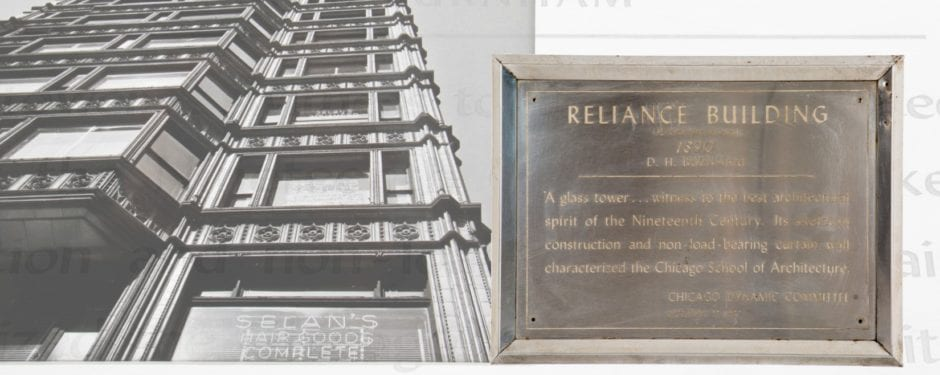 "chicago's ""dynamic week"" celebrated in part with stainless steel building plaques"