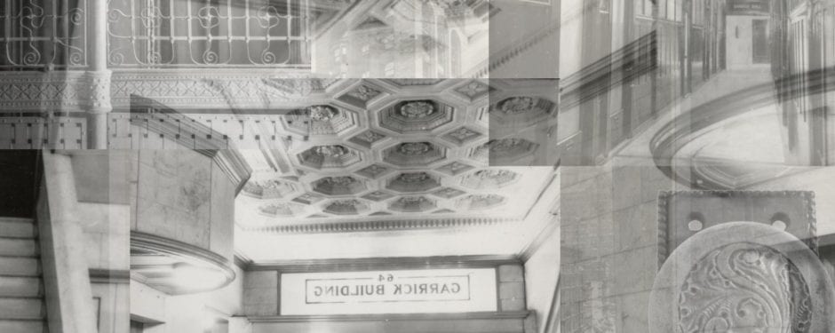 rarely seen images of adler and sullivan's schiller building lobby and interior commercial corridors