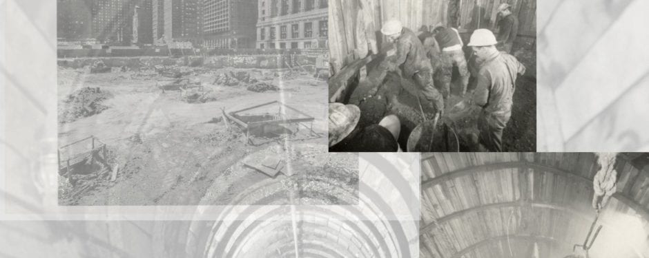 down in a hole: richard nickel images of hand-dug cassions for c.f. murpy's civic center